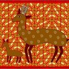 Gazelle African Folk Art Needlepoint Canvas (af1-13)