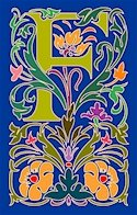 Initial Letter F Style Victorian Needlepoint Canvas (ar7-vic-f)