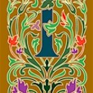 Initial Letter I Style Victorian Needlepoint Canvas (ar7-vic-i)