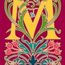 Initial Letter M Style Victorian Needlepoint Canvas (ar7-vic-m)