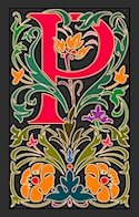 Initial Letter P Style Victorian Needlepoint Canvas (ar7-vic-p)