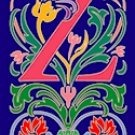 Initial Letter Z Style Victorian Needlepoint Canvas (ar7-vic-z)