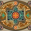 Victorian Ornamental Cushion Needlepoint Canvas (ar9-vc-40c)