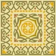 Art Nouveau Tile Needlepoint Canvas Lena Lawson (ar18-019csm)