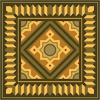 American Quilt Cushion Needlepoint Canvas (ar18-027smc)