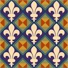 Fleur de Lis Pattern Cushion Needlepoint Canvas (ar18-090c)