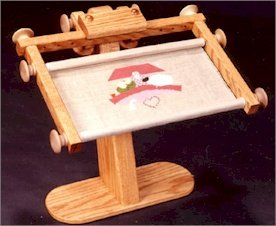 "Needlework Stand with Frame EZ Stitch (sit-on model) 22"" maximum width"