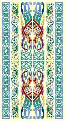 Celtic Peacocks Rug Needlepoint Canvas (cb-celtic-02-rug)