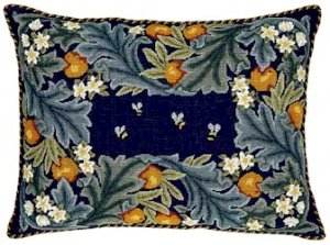 ORANGE BORDER Needlepoint KIT Beth Russell William Morris