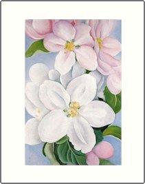 Georgia O'Keeffe Apple Blossoms Needlepoint Design by Lena Lawson (ok-02)
