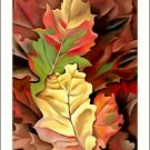 Georgia O'Keeffe Autumn Leaves Needlepoint Design by Lena Lawson (ok-05)