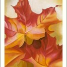 Georgia O'Keeffe Pink Maple Leaves Needlepoint Design by Lena Lawson (ok-48)