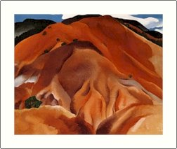 Georgia O'Keeffe Red Hills Beyond Abiquiu Needlepoint Design by Lena Lawson (ok-54)