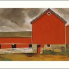 Georgia O'Keeffe Red Barn Needlepoint Design by Lena Lawson (ok-55)
