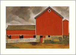 Georgia O'Keeffe Red Barn Needlepoint Design by Lena Lawson (ok-55)