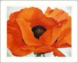 Georgia O'Keeffe Red Poppy Needlepoint Design by Lena Lawson (ok-59)