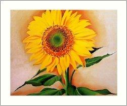 Georgia O'Keeffe Sunflower From Meggie Needlepoint Design by Lena Lawson (ok-64)