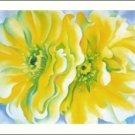 Georgia O'Keeffe Yellow Cactus Flowers Needlepoint Design by Lena Lawson (ok-75)