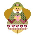 Needlepoint Canvas Eunice Angel by In Good Company (LAS021)