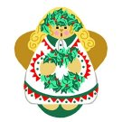 Needlepoint Canvas Holly Angel by In Good Company (LAS030)