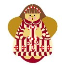 Needlepoint Canvas Candy Cane Angel by In Good Company (LAS031)