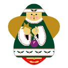 Needlepoint Canvas Christmas Angel by In Good Company (LAS058)