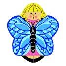 Needlepoint Canvas Blue Fuiana Angel by In Good Company (LAS085)
