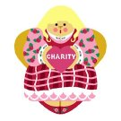 Needlepoint Canvas Charity Angel by In Good Company (LAS091)