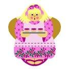 Needlepoint Canvas Rasberry Tart Angel by In Good Company (LAS095)