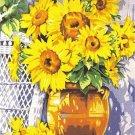 Needlepoint Canvas by Margot Sunflowers Bouquet Le pot de tournesols (margot-153-1335)