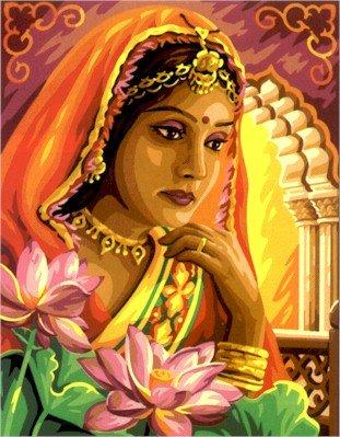 Needlepoint Canvas by Royal Paris La Princesse des Indes (royal_paris_142-426)