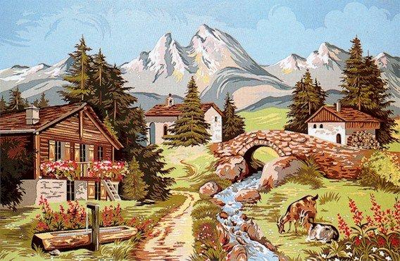 Needlepoint Canvas Paysage alpestre (margot-163-4304)