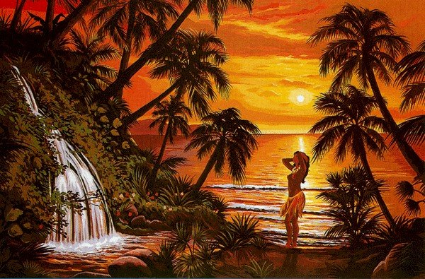 Needlepoint Canvas Soleil tropical (margot-163-4311)
