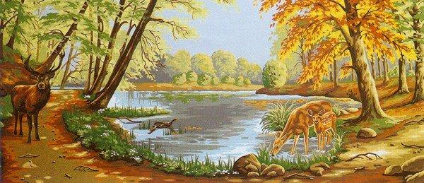 Needlepoint Canvas by Margot En foret (margot-173-3094)