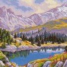 Needlepoint Canvas by Margot La montagne aux bouquetins (margot-173-3103)