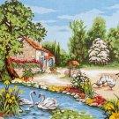 Needlepoint Canvas by Margot La riviere aux iris (margot-173-3095)