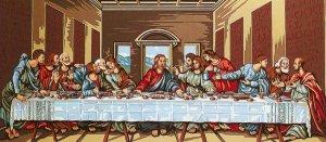Needlepoint Canvas by Margot La Sainte Cene d'apres Leonard de Vinci (margot-173-3092)