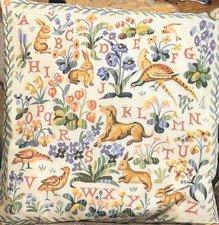 Needlepoint Canvas by SEG Medieval Animals Alphabet (seg-1904-18)