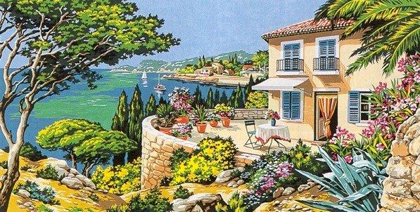 Needlepoint Canvas by SEG Vue sur la mer (seg-932-97)