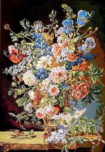 Needlepoint Canvas by SEG Vase de Fleurs XVIII siecle (seg-933-13)