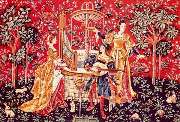 Needlepoint Canvas by SEG Concert a la fontane XV Siecle (seg-933-09)