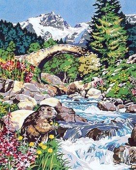 Needlepoint Canvas by SEG Le ponts des marmotes (seg-981-138)