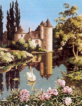 Needlepoint Canvas by SEG Le vieux manoir (seg-981-94)
