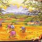 Needlepoint Canvas by Margot La Couleurs des Rizieres (Colors of the Rice Paddy) (margot-170-07)