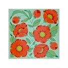 Needlepoint Canvas Poppy by Janet Watson