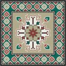Needlepoint Canvas Armenian Rug Cushion