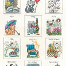 Calendar Cats by Peter Underhill Cross stitch Kit HCK943
