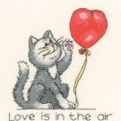 February Cat by Peter Underhill Heritage Crafts Cross stitch Kit