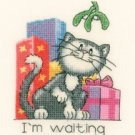 December Cat by Peter Underhill Heritage Crafts Cross stitch Kit