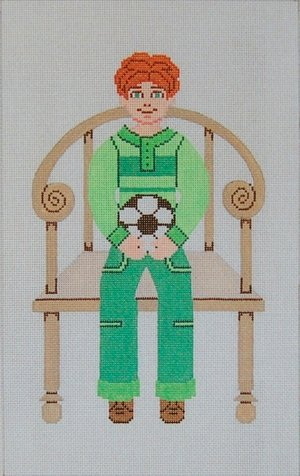 Needlepoint Canvas by Janet Watson Buddy Boy - Soccer (fdp-JW-128)